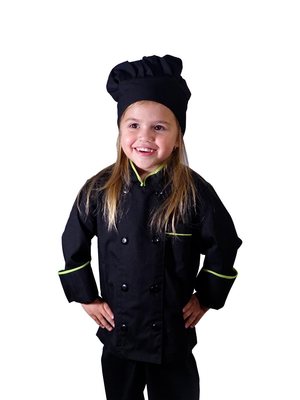 19aaac586e8 Chaqueta y Gorro Chef para Niña y Niño - Phalabi